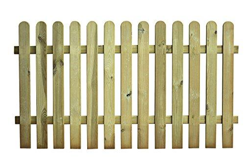 AVANTI TRENDSTORE - Manuel - Staketenzaun mit 13 vertikalen Leisten, aus Holz für den Garten. Maße: 180x100x5 cm