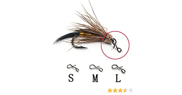 20PCS//Lot Fly Fishing Snap Quick Change for Hook Lures Fishing Accessories