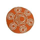 Orange runde Auflage mit Brokat Futter-Chakra Gedruckt Singen Schüssel Kissen