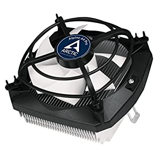 ARCTIC Alpine 64 Pro - 90 Watts Low Noise CPU Cooler for AMD AM4 Sockets with Patented Fan Holder - Patented Anti-Vibration System
