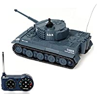 Atdoshop New Mini 1:72 49MHz R/C Radio Remote Control Tiger Tank 20M Kids Toy Gift Army (Grey) - Compare prices on radiocontrollers.eu