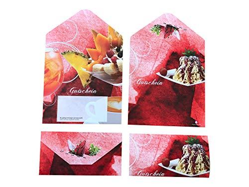 100 Stück - Eisgutscheine mit Umschlag, rot