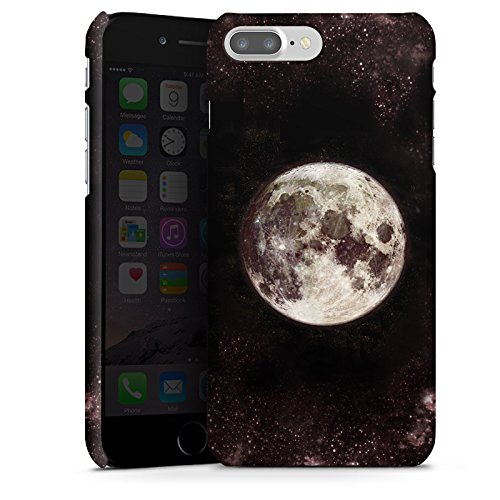 Apple iPhone 6s Silikon Hülle Case Schutzhülle Mond Moon Universum Premium Case glänzend