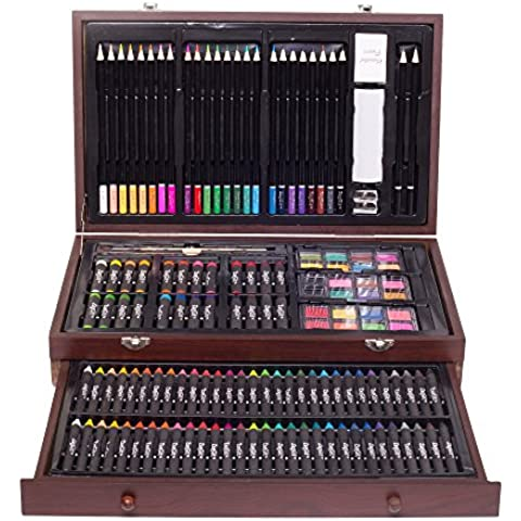 ZagGit 143 Piece Deluxe Art Creativity Set in Wooden Case by ZagGit