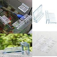 Ainstsk - Clips de plástico para acuario, 4 unidades, 6/8/10/12 mm, transparentes, para acuarios, acuarios, peces, acuarios, acrílicos, cubiertas de cristal, soportes de tapa, clips universales duraderos para acuarios sin llama, As Picture Show, 10 mm