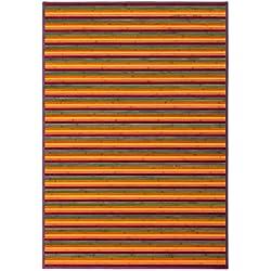 LOLAhome Alfombra de salón Pop Naranja de bambú para decoración de 140 x 200 cm Iris, 140x200