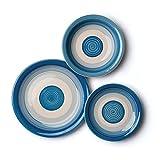 Excelsa Circle Servizio da Tavola, Ceramica, Blu, 18 Pezzi