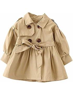 Brightup Ragazzi ragazze giacca a vento autunno e primavera giacca cachi/rosso/colore rosa cappotto per 2-5 anni...