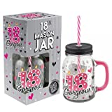 Best Gifts For 18th Birthdays - Cocktail Drinking Mason Jar With Lid and Straw Review