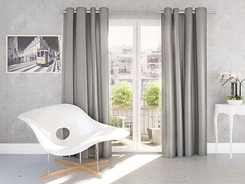 Splendid Curtain, Stoff, Silber, 140 x 245 cm