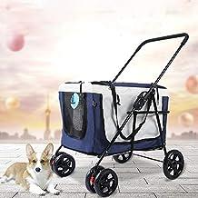 Cochecito para mascotas Trolley para automóvil al aire libre Bolso plegable portátil para el carro Perro