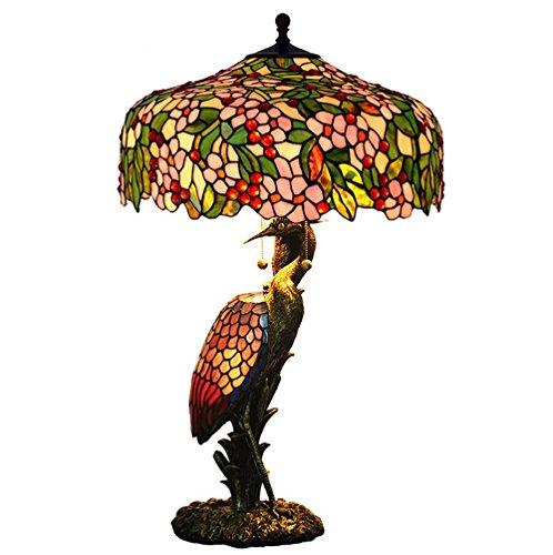 Edina 20 inch 60W Tiffany Style Child Table lamp Living Room lamp European Coffee Shop Decorative Lighting Lights