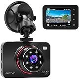 Apeman Full HD 1080p Caméra de tableau de bord de voiture Dash Cam WDR Enregistreur vidéo de voiture avec GPS, moniteur de stationnement, capteur G, enregistrement en boucle