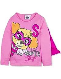 Camiseta de manga larga oficial de la Patrulla Canina con capa de algodón para niñas de 2 a 6 años 2018/19