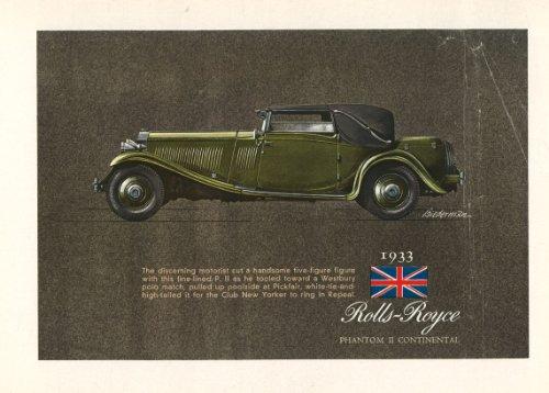 Rolls Royce Phantom 2Continental annuncio stampa artistica
