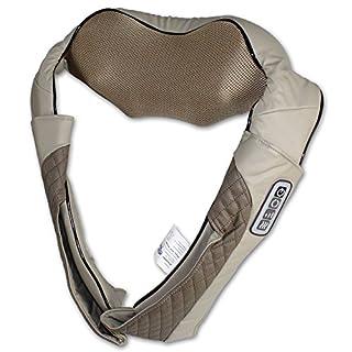 @tec Shiatsu Nackenmassagegerät mit Wärmefunktion, Schultermassagegerät, Massagegerät Nacken Schulter Rücken Massage – Knet- & Rollenmassage mit 8 Massageköpfen und Infrarot-Wärme zur Schmerzlinderung