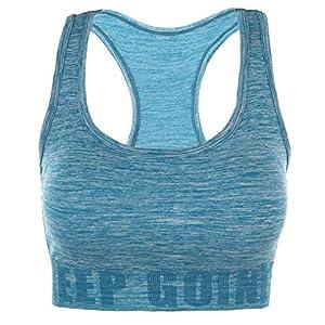 Disbest Yoga BH Starker Halt Fitness-Training Strech BH Bustier Push up Top Sports Bra Ohne Bügel Bustier für Fitness Lauf Yoga