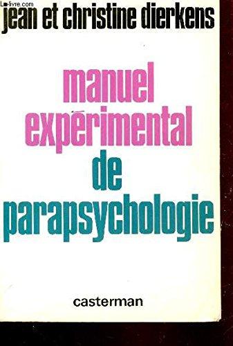 Manuel expérimental de parapsychologie