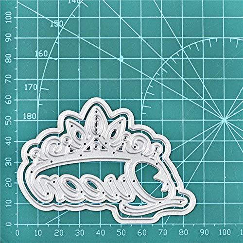 PENVEAT König Königin Schreiben Dies Crown Wort Metallschneideisen Neu 2019 für die Karte Scrapbooking Embossing Cuts Craft Cut Die, Königin, China Cut In China-platten