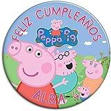 CHAPA personalizada, 77 mm, diseño de Peppa Pig Familia