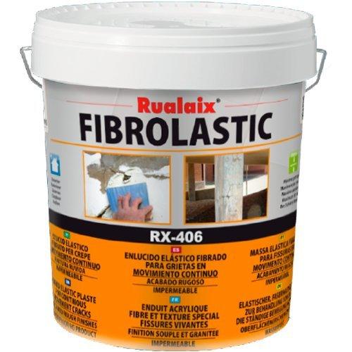 Rualaix RX 406 Fibrolastic   Masilla Elástica Microfibrada, Bote De 1 Kg