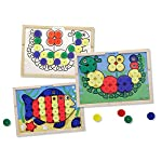 Product Description:Toddlers will be fascinated and preschoolers will be inspired by this amazing colour-matching and creative activity board! Ten reversible picture cards are held in place on a wooden play board when children place the snap caps in ...