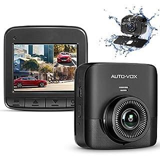 AUTO-VOX FHD 1520P Dual Dashcam, Autokamera Vorne und Hinten mit AHD720P Rückfahrkamera, 2,4