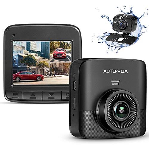 """AUTO-VOX FHD 1520P Dual Dashcam, Autokamera Vorne und Hinten mit AHD720P Rückfahrkamera, 2,4"""" LCD Bildschirm, Nachtsicht, G-Sensor, Loop-Aufnahme, Bewegungserkennung, Parküberwachung, WDR"""