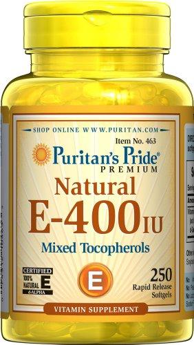 Puritan's Pride Vitamin E-400 IU (250 Softgels)