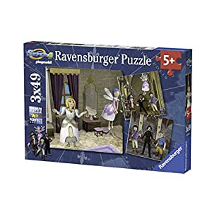 Ravensburger - 09408 - Puzzle Enfant Classique - Super 4 - Playmobil - 3 x 49 Pièces