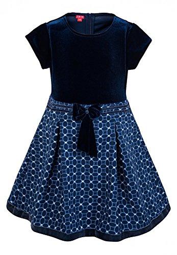 Mädchen Kellerfalte Rock (La-V Festliches Mädchenkleid Blau/Größe 152)