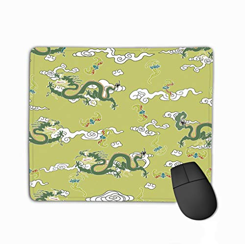 Mouse Pad Dragon Clouds traditionally Chinese Ornament Highest Ranking Animal Hierarchy Also Represents State Kawaii Rectangle Rubber Mousepad 11.81 X 9.84 Inch