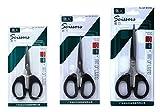 #3: Shunkk™ Stainless Steel scissors with Plastic Handle Set of 3