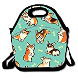 Hot sale Customize Insulated Super panier repas Tote Reusable Waterproof School Picnic Carrying Gourmet Lunchbox Container Organizer - Jolly Corgis in Green High quality