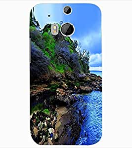 ColourCraft Nature Design Back Case Cover for HTC ONE M8