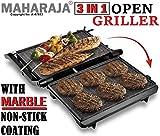 MAHARAJA 3 in 1 Steel Body Mini Electric Multi-Utility Press Griller for 2