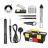 Meterk Soldering Iron Kit 60W Adjustable Temperature Welding Irons Tool Soldering Tips Solder