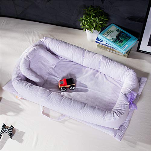 Babies Bloom Purple Foldable Portable Bed Child Bed Soft New-Born Baby Crib Sleep (0-36m)