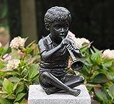 Sehr schöne Skulptur eines Jungen mit seiner Flöte aus Bronze gefertigt und als Wasserspeier nutzbar