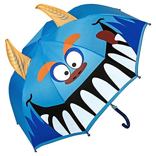 VON LILIENFELD Regenschirm Kind Kinderschirm Junge Mädchen Motiv Monster (bis ca. 8 Jahre)
