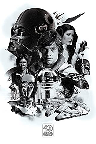 Star Wars 40th Anniversary Montage Maxi Poster 61 x 91,5 cm