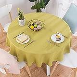 XJ&DD Stoff-tischdecke,Volltonfarbe Baumwolle Einfache Runde Für Coffee Table Esstisch Home Hotel-F 120cm(47inch)