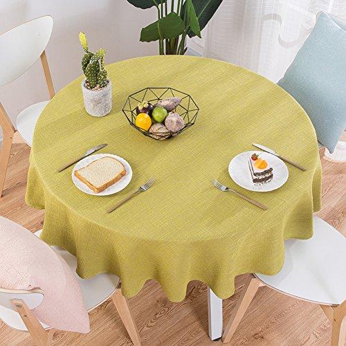 Xj&dd tovaglia tessuto,tinta unita cotone semplice tonda per tavolino tavolo da pranzo home hotel-f 160cm(63inch)