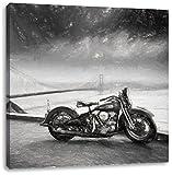 Triumph Motorrad, Format: 70x70 auf Leinwand, XXL riesige Bilder fertig gerahmt mit Keilrahmen, Kunstdruck auf Wandbild mit Rahmen, günstiger als Gemälde oder Ölbild, kein Poster oder Plakat