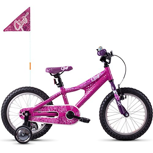 Ghost Powerkid AL 16R Kinder Fahrrad 2018 (One Size, Dark Fuchsia Pink/Violet/Star White)