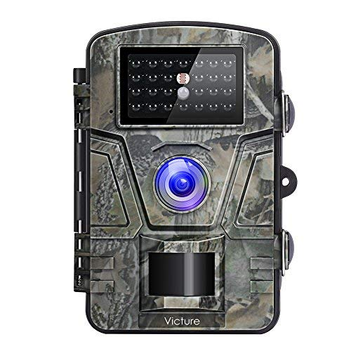 Victure HC200 - Cámara de Caza Vigilancia 12MP 1080P IP66 Impermeable 24 IR Invisible 1 PIR Sensor de Movimiento 2.4 \'\' LCD Visión Nocturna Hasta 20m Accesorios Múltiples 90 ° Angular