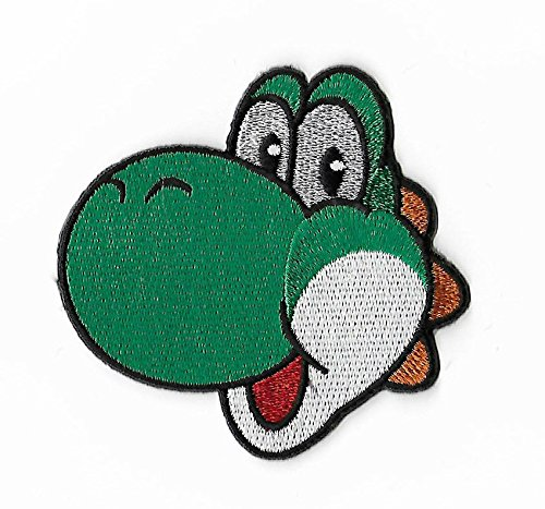 Yoshi Flower Patch (8 cm) Super Mario Brothers Dinosaurier Aufbügeln oder nähen auf Badge Aufnäher Souvenir Retro DIY Kostüm World Kart All Stars SNES (Mario Brothers Goomba Kostüm)