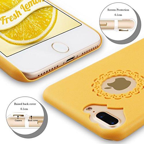 iPhone 7 Plus Hülle, SpiritSun Transparent Schutzhülle für Apple iPhone 7 Plus Hülle (5.5 Zoll) PC Hart Handyhülle Extrem Dünne Bumper Cover mit Stylus Pen - Violett Schwarz