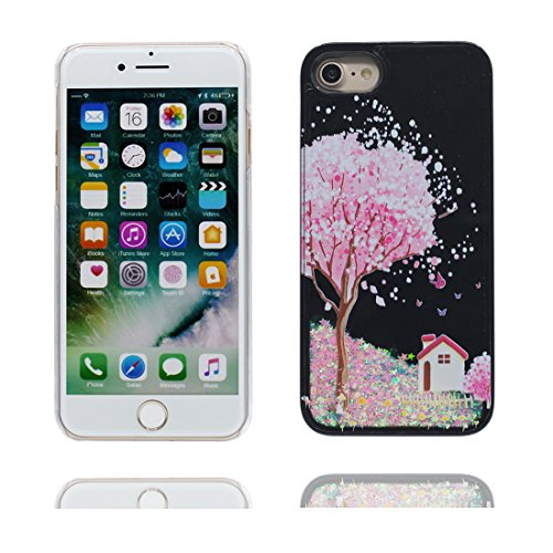 "Hülle iPhone 6, [ Liquid Fließendes Glitzer Bling Bling Herzförmig] iPhone 6S Handyhülle Cover (4.7 zoll), Floating sparkles, iPhone 6 Case Shell 4.7"" Anti-Beulen- Feder color-7"