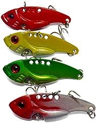 4pcs Leurres lame vibrante blade pêche 5.5cm/11.5g